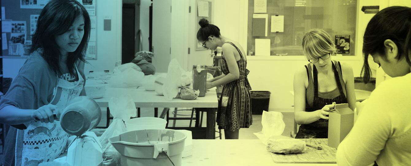Women creating art
