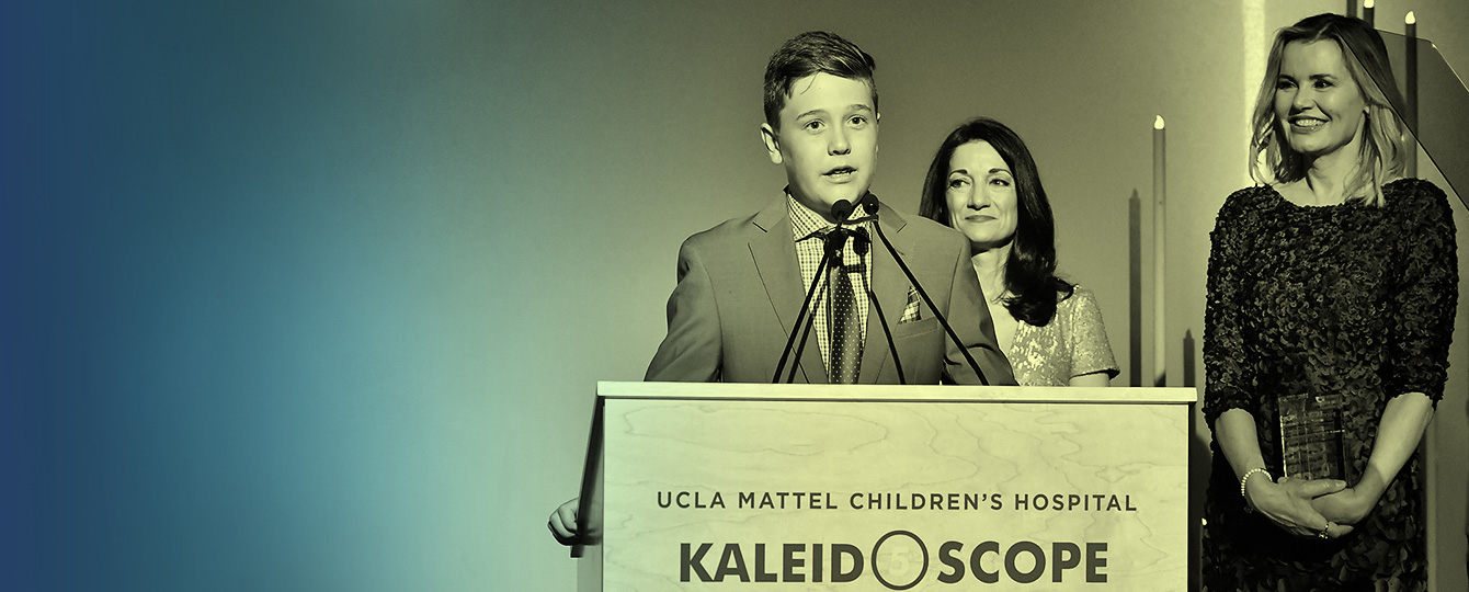 Teen speaker at a podium